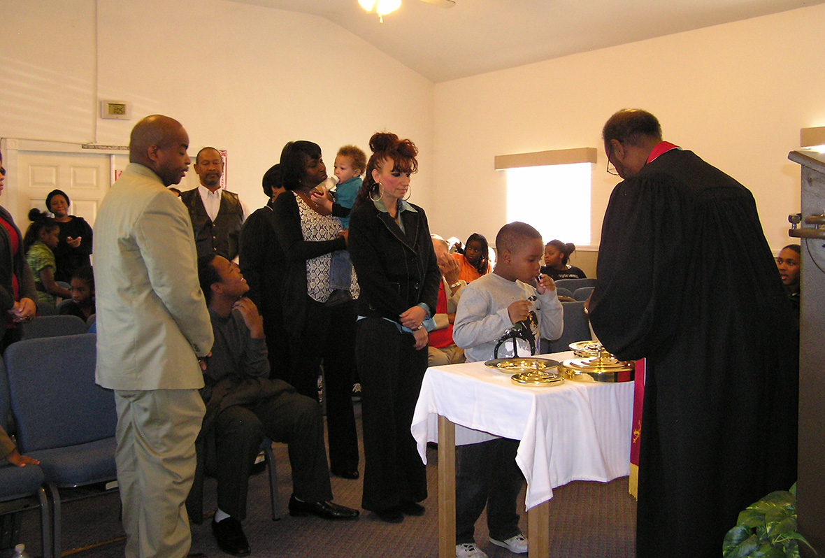 Sunday communion service
